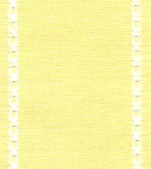 "Primary image for 27ct Celeste Yellow/Antique White banding 3.1""w x 36"" (1yd) 100% linen Mill Hill"