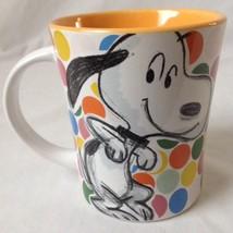 Peanuts Sneaky Snoopy Polka Dot Coffee Mug Festive Sketch Collection Gibson - $19.95