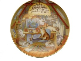 The Wonderful Wisdom of Cats Easier Said Than Done Cat Collector Plate GB48 - $40.84