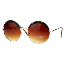 Womens Round Circle Sunglasses Metal Frame Eyebrowed Top Fashion - $9.95