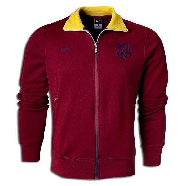nike fc barcelona authentic n98 track jacket team red. Black Bedroom Furniture Sets. Home Design Ideas