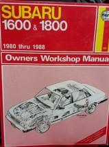 SUBARU Repair Manual  Haynes New Sealed 1980-1988. - $9.49