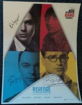 Big Bang Theory 4 Cast Hand Signed Photo COA Jim Parsons Johnny Galecki - $120.00