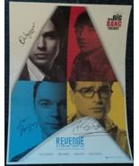 Big Bang Theory 4 Cast Hand Signed Photo COA Jim Parsons Johnny Galecki - $120.00