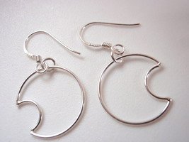 Crescent Moon Dangle Earrings 925 Sterling Silver Corona Sun Jewelry lun... - $15.83
