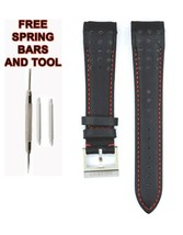 Compatible Seiko Sportura SNAE63P1 21mm Black Genuine Leather Watch Strap SKO111 - $38.48