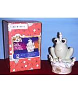 B-0110 HOPPY Birthday Precious Moments FROG Sitting On Happy Birthday CAKE NIB - $10.95