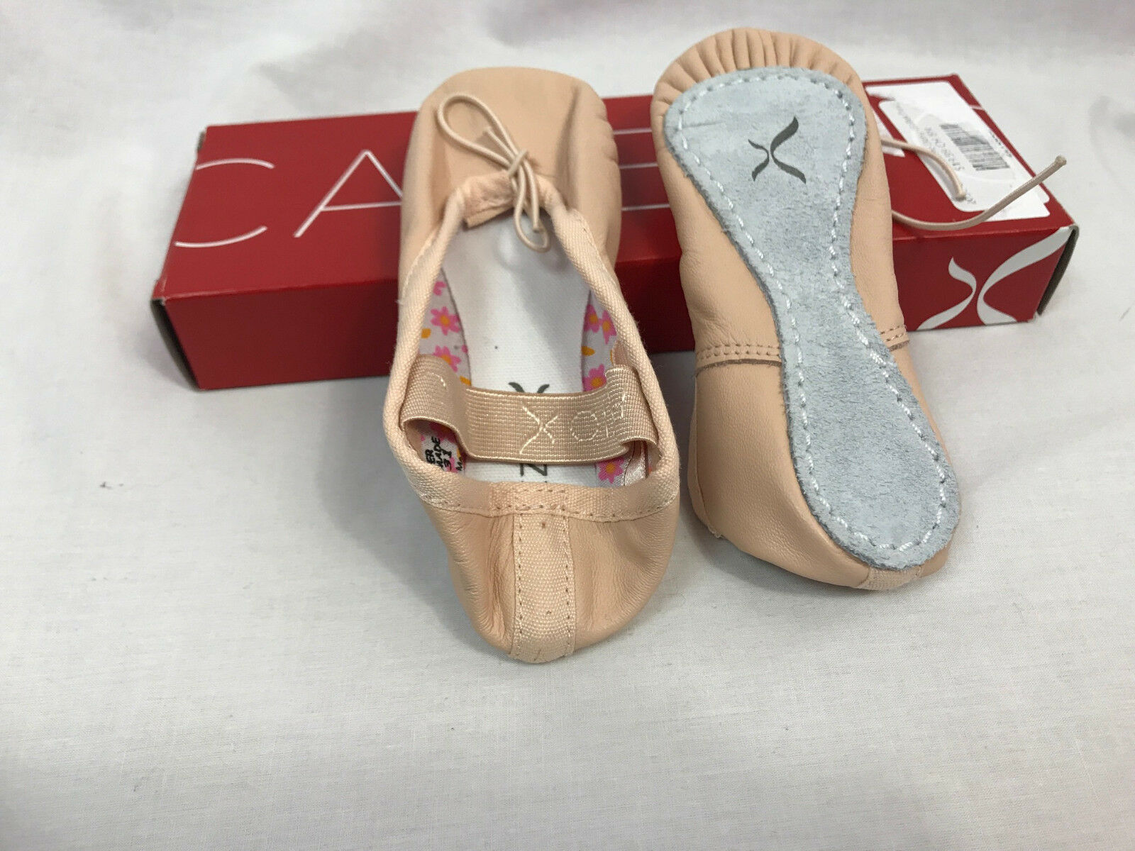 Capezio Girls Daisy Full Sole 205C Ballet Pink Shoes, Child 1 W, New in Box
