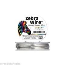 Zebra Silver Copper Jewelry Craft Wire 20 ga gauge 15 yards (13 meter / ... - $8.41