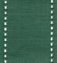 "27ct Celeste Green/Green banding 3.1""w x 18"" (1/2yd) 100% linen Mill Hill - $6.75"