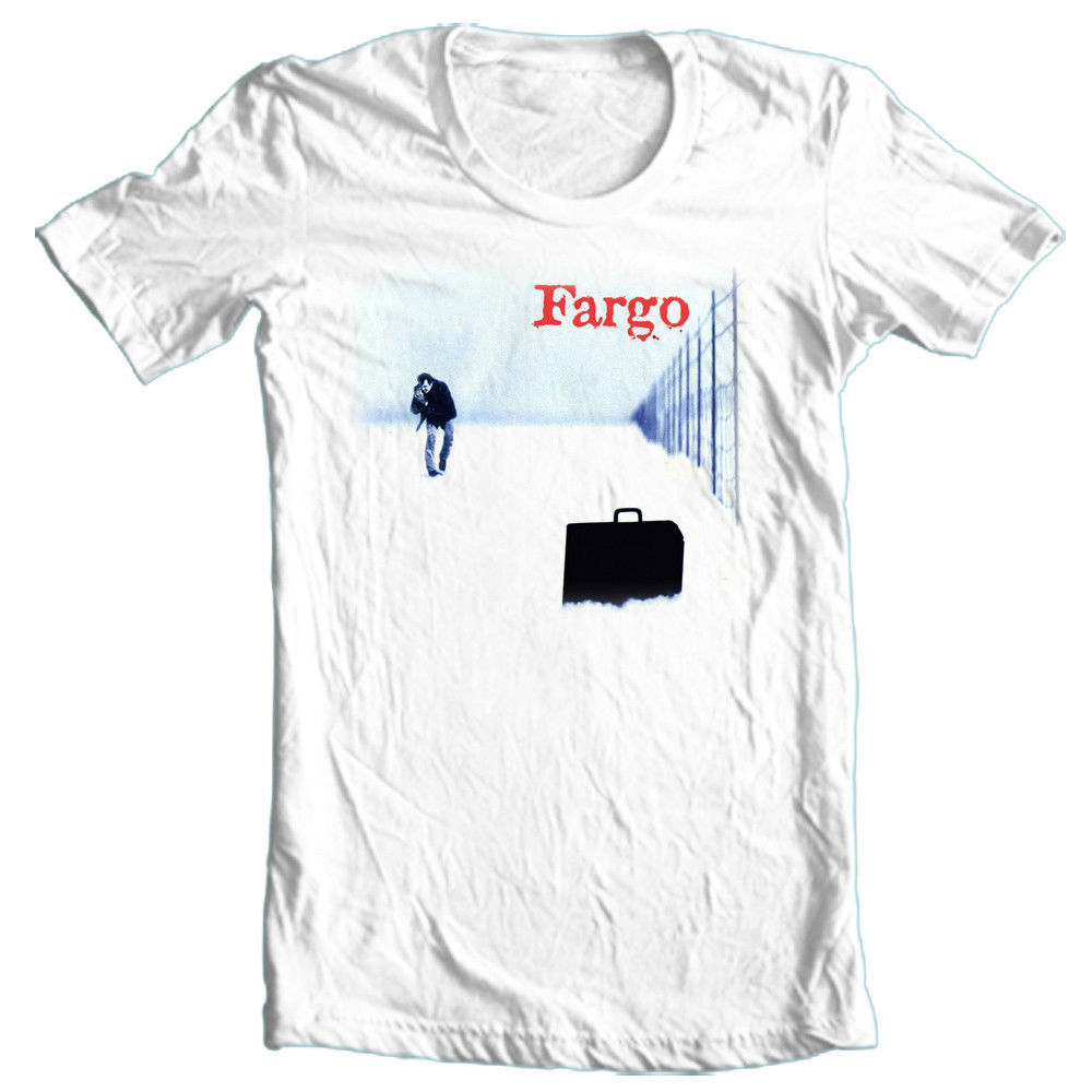 Fargo Movie T shirt reto '90s classic movie 100% cotton graphic white tee