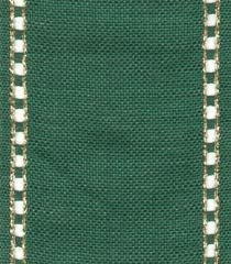 "Primary image for 27ct Celeste Green/Gold banding 3.1""w x 18"" (1/2yd) 100% linen Mill Hill"