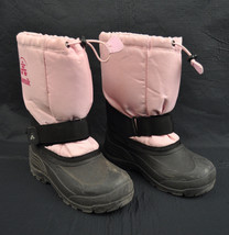 Kamik Rocket Light Pink Insultated Lined Winter Snow Rain Boots 1 Kids Y... - $32.85