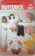 Butterick 291 or 6117    Doll Clothes for 19 Inch Doll  from Butterick 290/ 6116 - $9.99