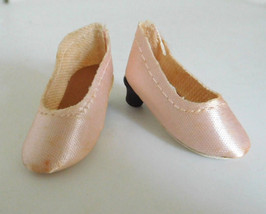Vintage Premier Pink Oilcloth High Heels Shoes  Medium Fashion Doll Old ... - $22.99