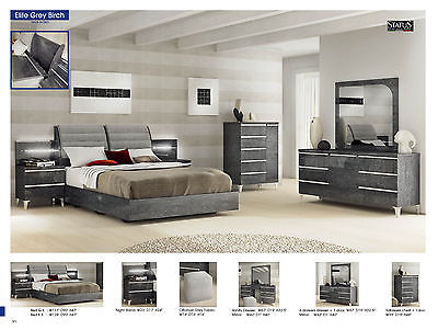 ESF Elite Bedroom Set Queen Bed Modern Contemporary Made in Italy