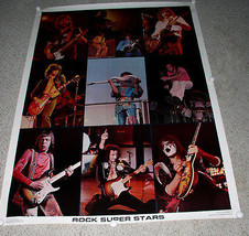 ONE STOP POSTER 1976 GUITAR LEGENDS JIMI HENDRIX KISS JIMMY PAGE JEFF BECK - $199.99