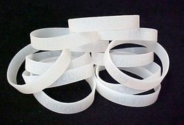 Lung Cancer Awareness Clear Translucent Silicone Bracelet 12 pc Lot Late... - $12.45