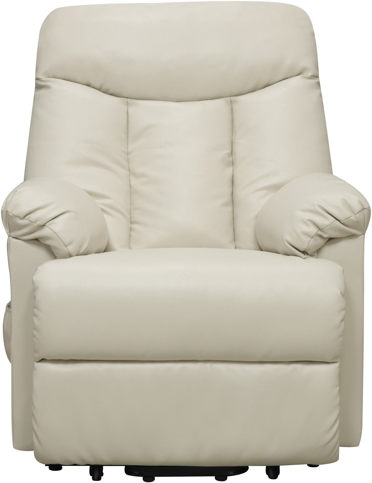 Electric Lift Chair Recliner Cream Leather Power Motion ...