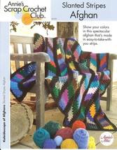 Annie's Slanted Stripes Afghan Crochet Pattern  - $8.99