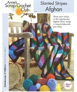 ANNIE'S SLANTED STRIPES AFGHAN CROCHET PATTERN  - £6.95 GBP