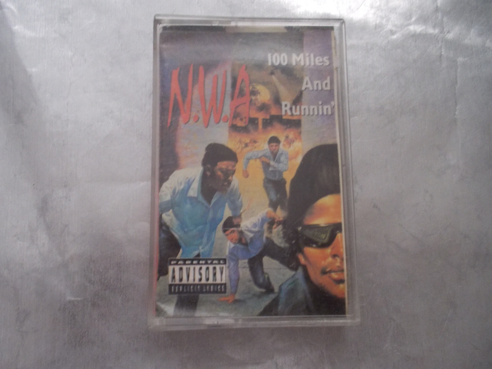 N.W.A. 100 MILES AND RUNNIN' CASSETTE  1990