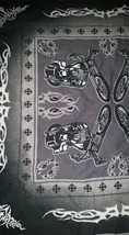 Motorcycle Tribal Handkerchief Bandana Scarf Black , New - $14.99