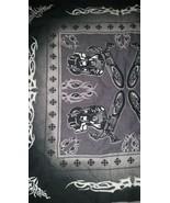 Motorcycle Tribal Handkerchief Bandana Scarf Black , New - $14.99