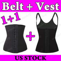 Waist Belt & Strap Vest Cincher Trainer Tummy Girdle Control Body Shaper 2 items - $25.86+