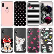 Cartoon Cat Minnie Phone Cases For Xiaomi Redmi Note 6 Pro Case Silicone Transpa - $13.95