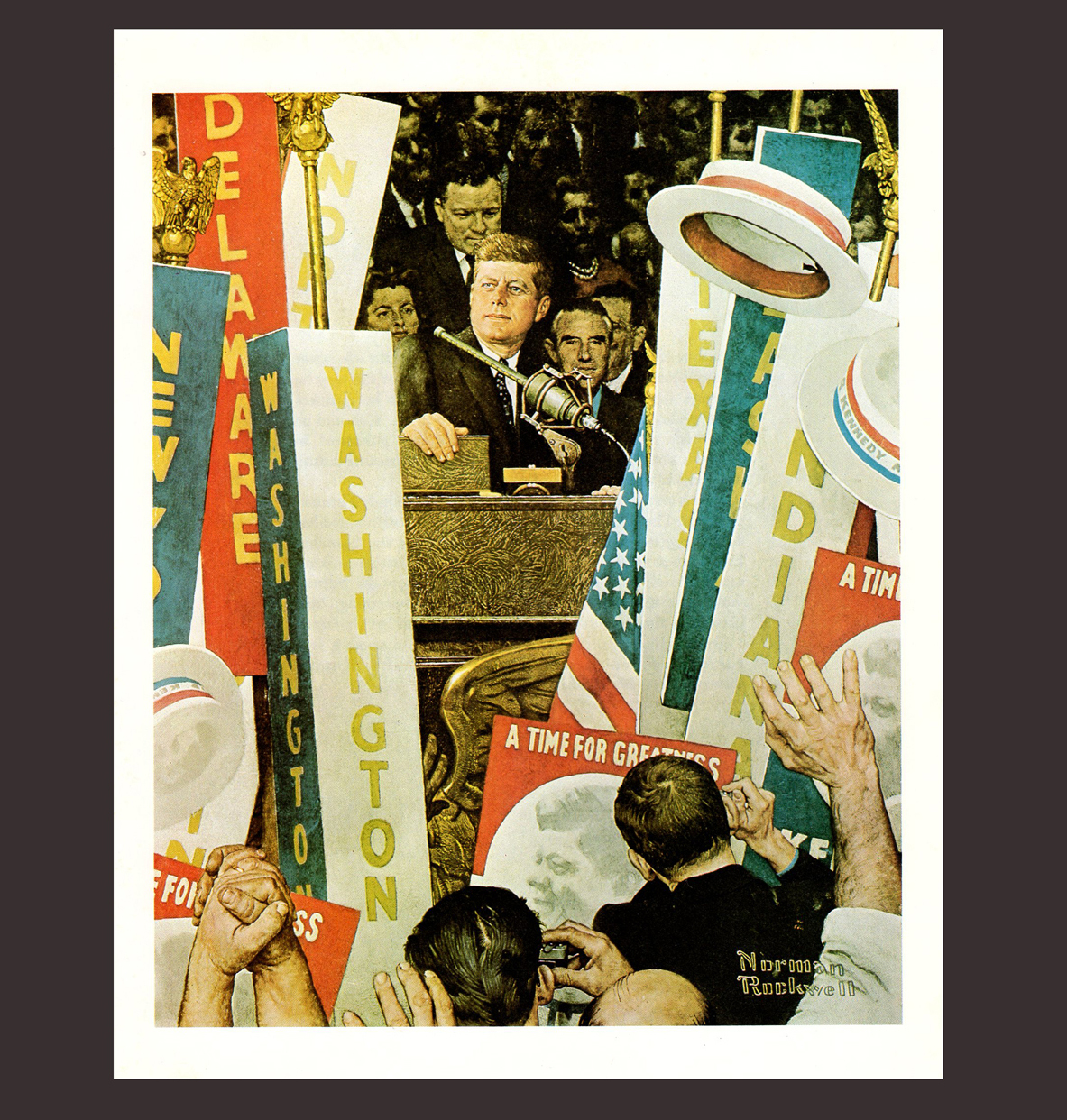 Norman Rockwell JFK John F. Kennedy Print 1978 Print Democratic Convention