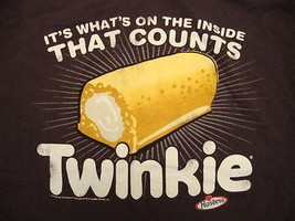 Hostess Twinkie Twinkies It's What's On The Inside That Counts Soft T Shirt L - $15.83