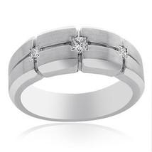 0.35 Carat Princess Cut Diamond Mens Wedding Band 14K White Gold - $1,196.91