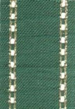"27ct Celeste Green/Gold banding 2""w x 36"" (1yd) 100% linen Mill Hill - $9.00"