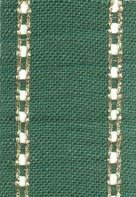 "Primary image for 27ct Celeste Green/Gold banding 2""w x 18"" (1/2yd) 100% linen Mill Hill"