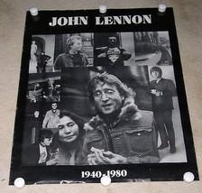 JOHN LENNON OBITUARY POSTER VINTAGE ORIGIN UNKNOWN - $64.99