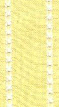 "27ct Celeste Yellow/Antique White banding 2""w x 36"" (1yd) 100% linen Mill Hill - $9.00"