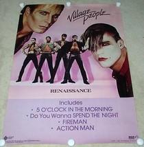 VILLAGE PEOPLE POSTER VINTAGE 1981 RENAISSANCE PROMOTIONAL - $49.99
