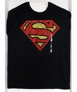 DC Superman Word Logo Medium Size Short Sleeve T-Shirt Brand New - $19.95