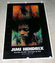JIMI HENDRIX POSTER VINTAGE 1970 SUNSET MARKETING ALL THAT HE WAS STILL IS - $149.99