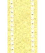 "27ct Celeste Yellow/Antique White banding 2""w x 18"" (1/2yd) 100% linen M... - $4.50"