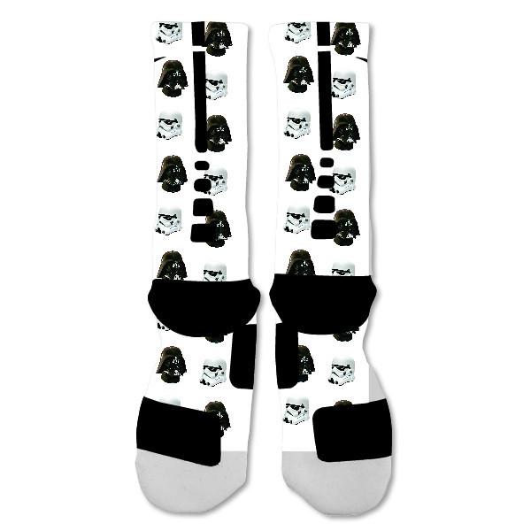 d6d5b3de27de Nike Elite socks custom Darth Vador Storm troopers Starwars