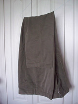 Muted Gray Green Taupe  38 X 32 Perry Ellis Casual Dress Mens Pants Poly... - $18.99