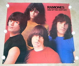 RAMONES  POSTER VINTAGE 1980 END OF THE CENTURY PROMOTIONAL - $69.99