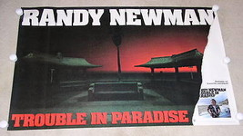 RANDY NEWMAN POSTER VINTAGE 1983 TROUBLE IN PARADISE PROMOTIONAL - $69.99