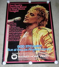 ROD STEWART POSTER VINTAGE 1981 VIDEO PROMOTIONAL LIVE AT THE LOS ANGELE... - $64.99