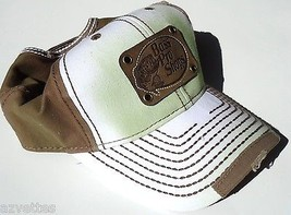 NEW! White-Taupe Cap by BASS PRO SHOPS Adult Unisex ~ STRESS WORN STYLE ... - $29.58