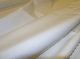 "Vinyl Fabric, White, 36"" X 10' 6"" 18oz. Tarp Fa... - $22.92"