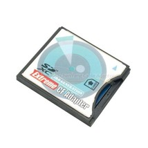 SD 3.0 SDHC SDXC to HighSpeed Extreme CF Type II Adapter for 16 32 64 128 GB - $12.50