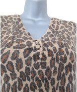 1990s vintage plus size leopard silk angora sweater 14 16 1x extra large xl - $49.99